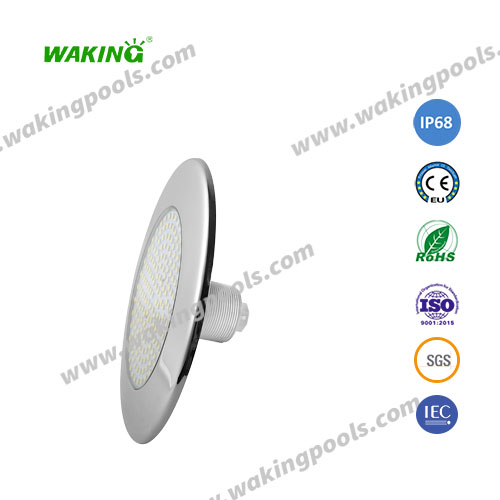 surface flat recessed underwater light rgb pool light with 1.5 inch thread