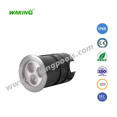 75mm mini 3w 6w ss304 316 led underground light