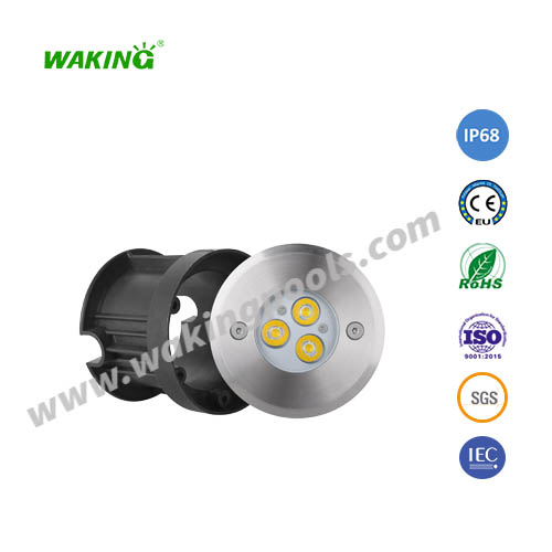 110mm 3w 6w rgb rgbw stainless led underground light