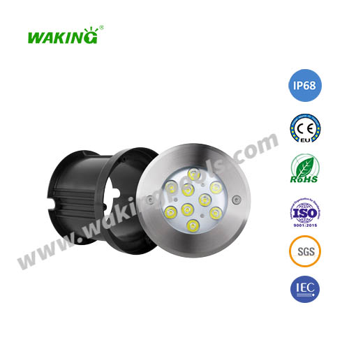 160mm 6-18w white rgb rgbw led underground light