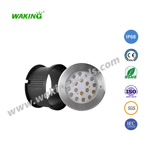 220mm 24w 35w 2800-6500k led underground pool light