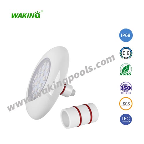 mini led pool light DC 12V 6w RGB IP68 waterproof recessed pool lamp