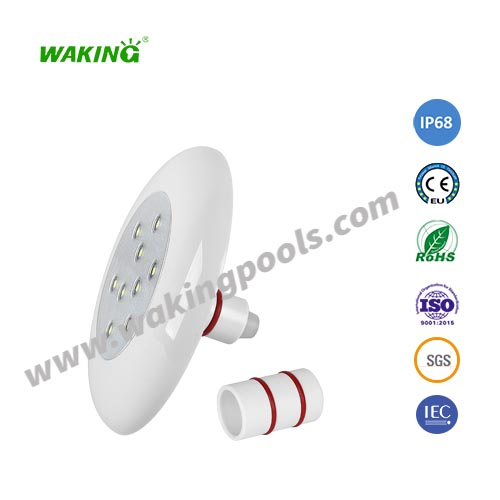 embedded 9w RGB led pool light for concrete pools IP68 12v 125mm small pool light