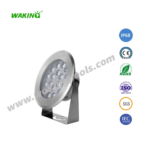 12w 18w 25w white rgb rgbw stainless 12v 24v underwater led spotlight