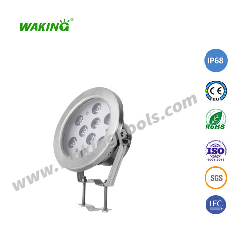 9w 12w ss304 rgb led spotlight underwater landscape light