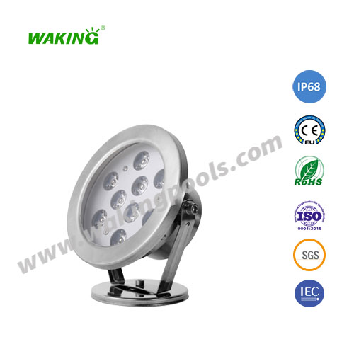 ip68 outdoor waterproof stainless steel 9w 12w RGB led underwater spot light