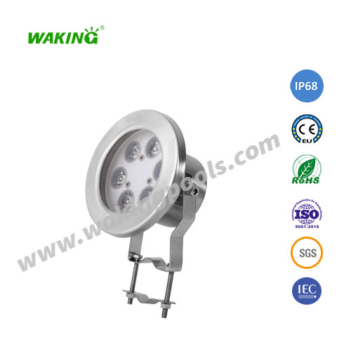 ss304 led underwater light 6w ip68 pool lights rgb spotlight