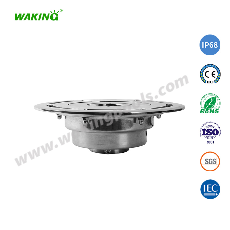 220mm ss316 304 housing 32mm middle hole led fountain light