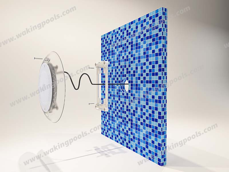 ultra thin resin filled wall mount LED pool light