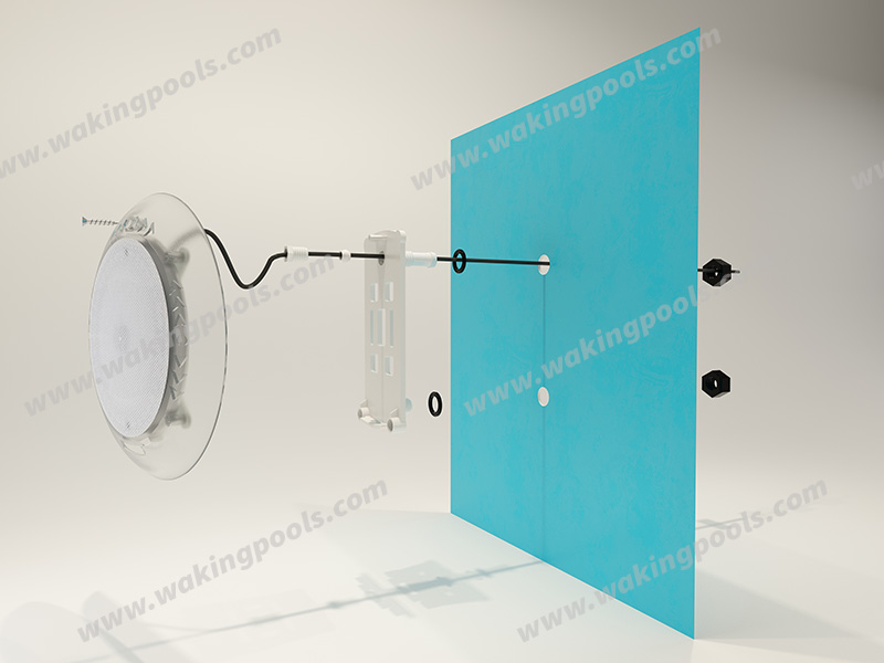 Angular anti-glare design ultra-thin wall mount led pool light