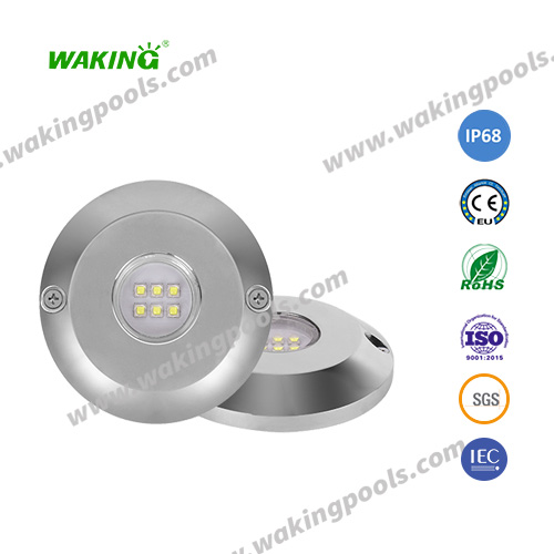 ultra thin resin filled wall mounted led pool light