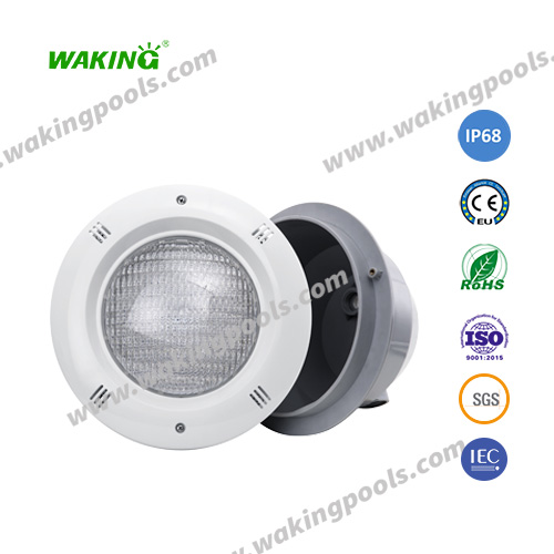 ABS+UV plastic housing recessed led swimming pool light underwater