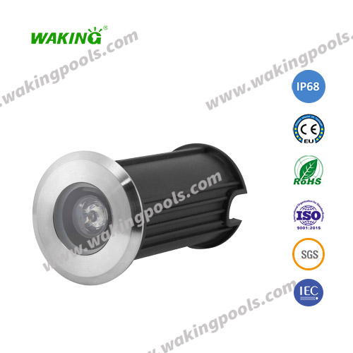3W small recessed LED pool light with SS304/316 housing for swimming pool