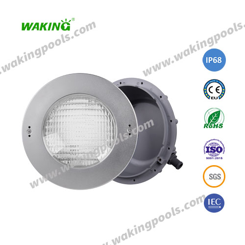 high power ss316 304 recessed led pool light with niche for liner swimming pool