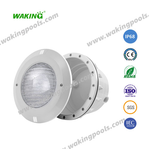 recessed par56 abs outdoor swimming pool lights with plastic/stainless light plate