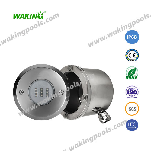 stainless 10w 18w 35w DC recessed liner pool light with stainless niche