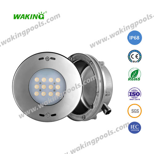 high end stainless steel rgb led recessed pool light