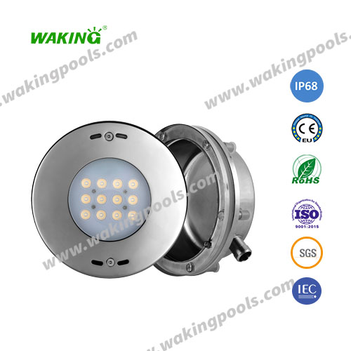 high class stainless RGB led underwater light for liner pools