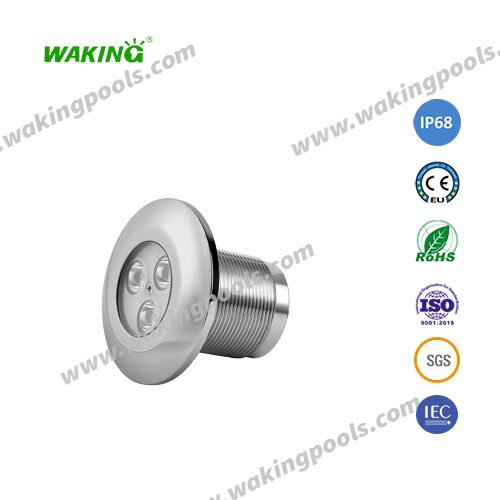 high quality stainless small recessed led pool light 3w 6w 9w