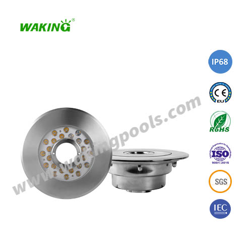 280mm ss316 304 housing 58mm middle hole fountain light