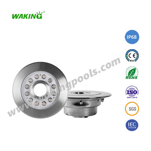 220mm ss316 304 housing 44mm middle hole fountain light