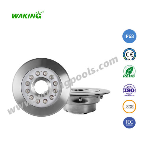 220mm ss316 304 housing 39mm middle hole fountain light
