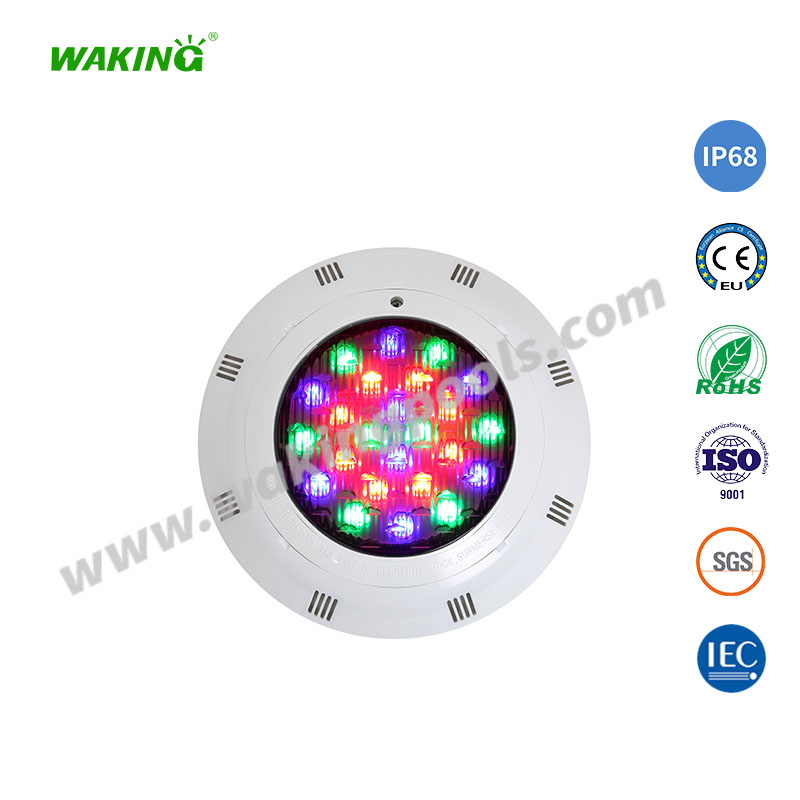 multi color IP68 led bulb surface mounted swimming pool light
