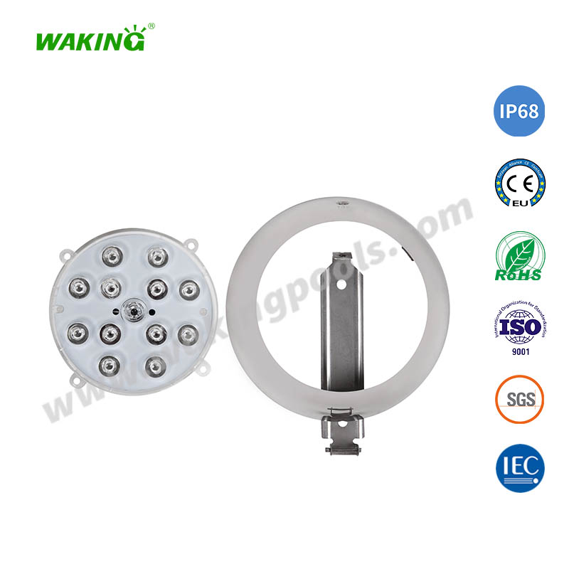 full resin filled wall mounted led concrete swimming pool light
