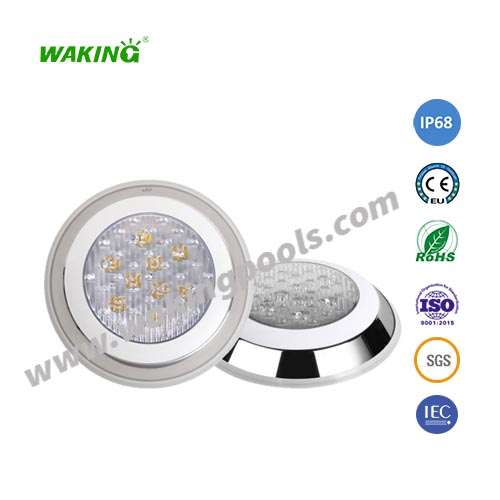 stainless steel ac dc 12v 24v color changing led surface mounted swimming pool light