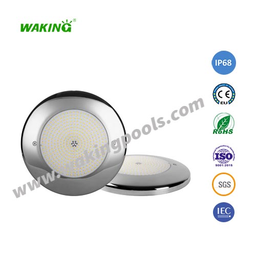 ultra thin IP68 resin filled stainless wall mount led pool light