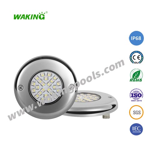 ultra thin SS316 304 DC 12V 24V 5W 9W led mounted pool light