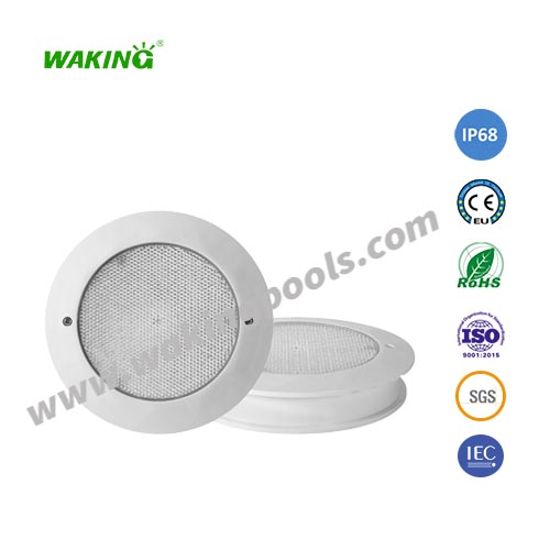 IP68 12V single color rgb thin recessed led pool light