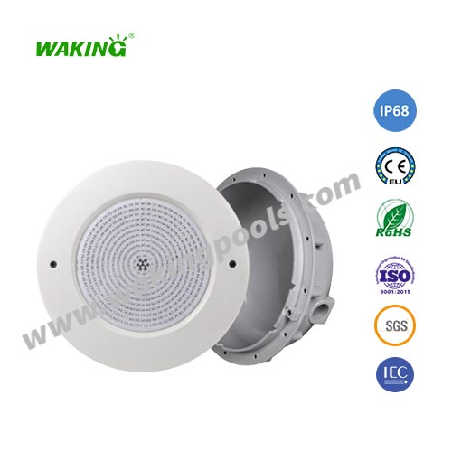abs+uv plastic submersible IP68 underwater recessed LED swimming pool light