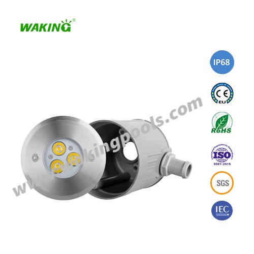 110mm IP68 RGB SS316 3W 6W LED recessed pool light