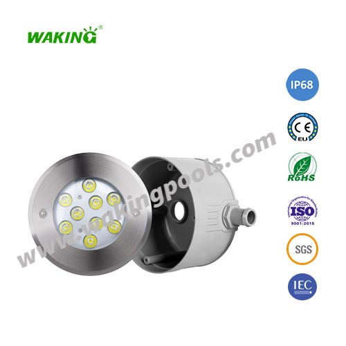 IP68 recessed light 304 stainless steel LED embedded underwater pool light