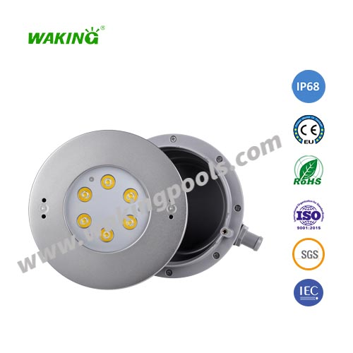 vinyl liner swimming pool underwater lighting 6W 12W 18W AC 12V led recessed RGB led pool light
