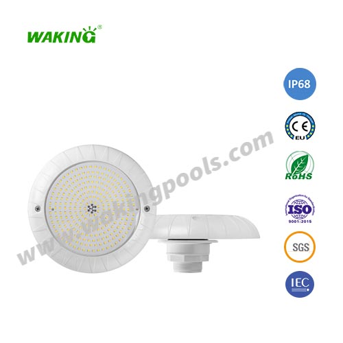 IP68 ultra bright plastic fiberglass liner pool lamp