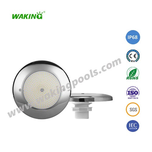 Stainless steel housing resin filled LED swimming pool light for Fiberglass Pool