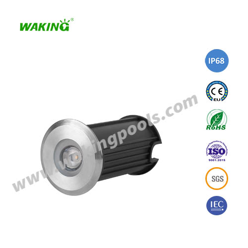 62mm IP68 stainless 3w led underground light