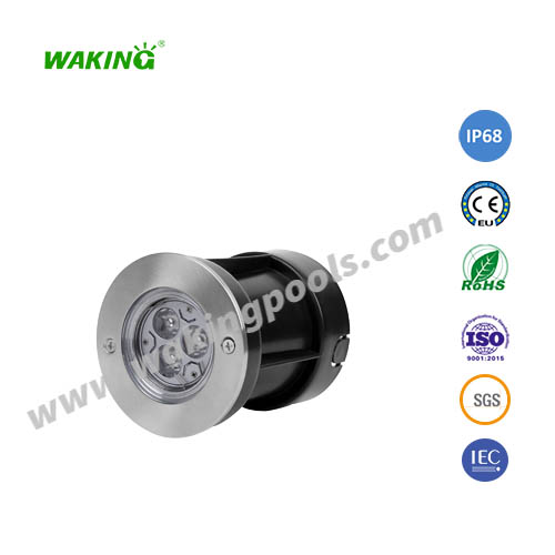 105mm 3w 6w mini stainless led underground light