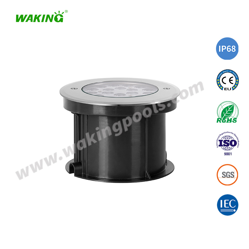 190mm 12-25w single color rgb stainless led underground light