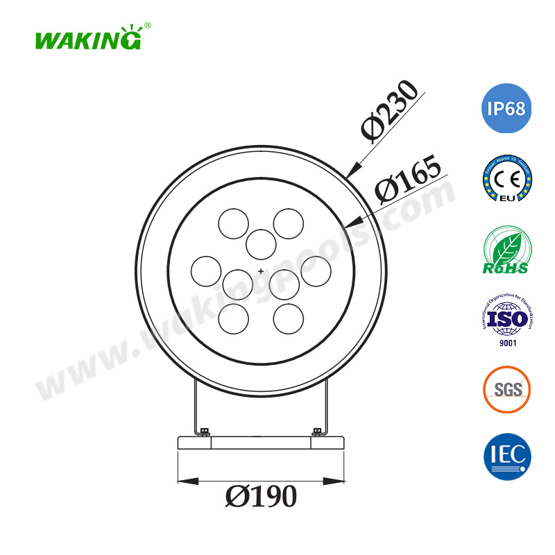 white color rgb rgbw ss316 ip68 waterproof led underwater light