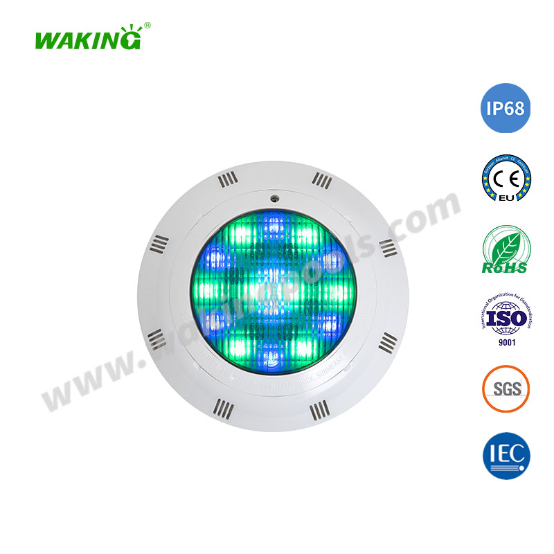 surface mounted plastic IP68 color changing led liner pool light